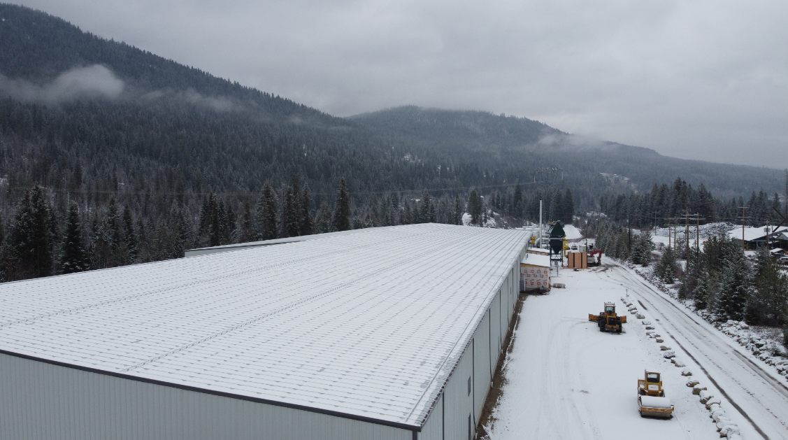 Kalesnikoff glt, clt and glulam mass timber facility in South Slocan, BC
