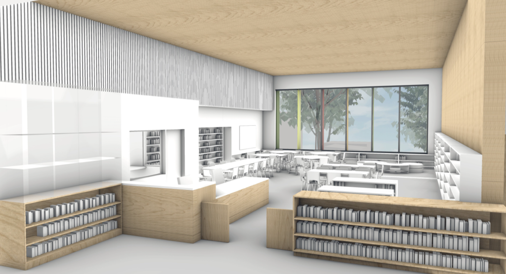 Bayview Elementary School mass timber renderings