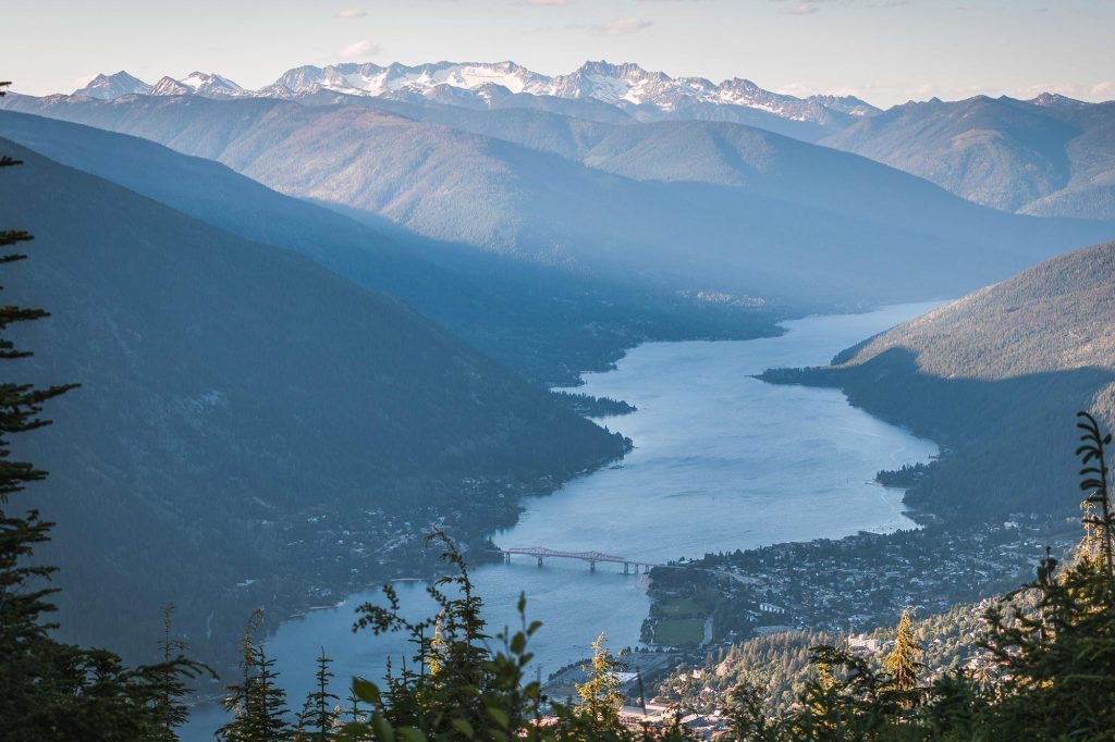 aerial picture of nelson bc